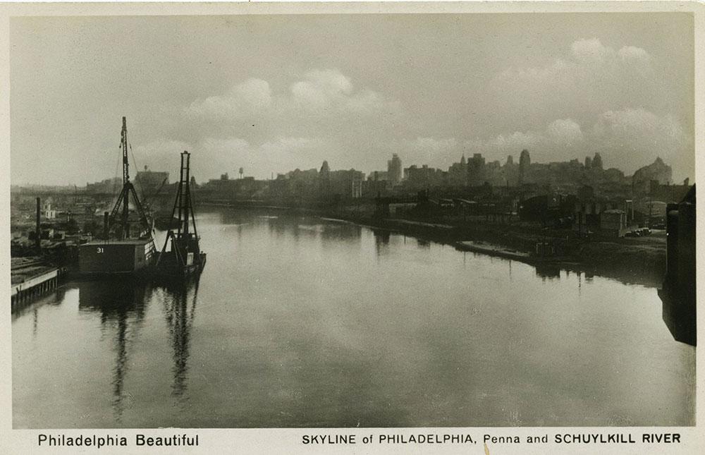 Schuylkill River and Philadelphia Skyline - Postcard