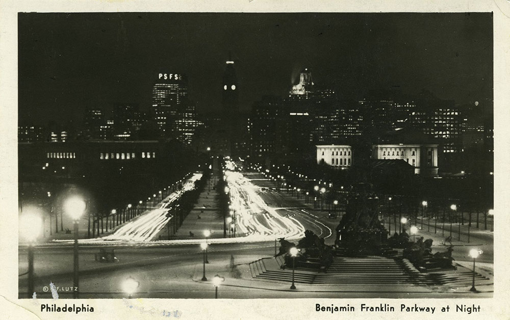 Benjamin Franklin Parkway - Postcard