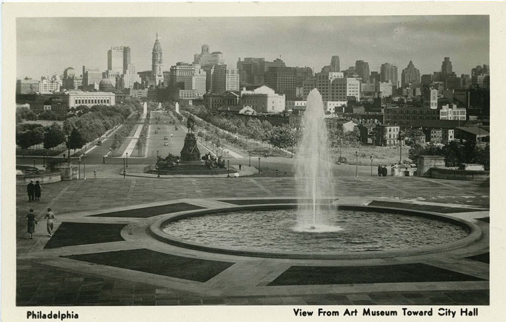 View of City Hall from Art Museum - Postcard