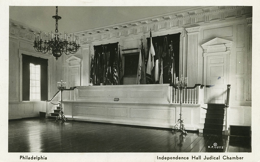 Judicial Chamber of Independence Hall - Postcard
