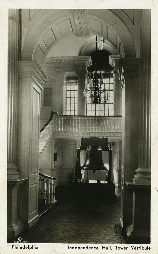 Tower Vestibule in Independence Hall - Postcard