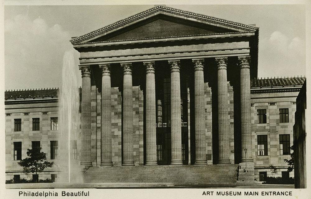Main Entrance of Art Museum - Postcard