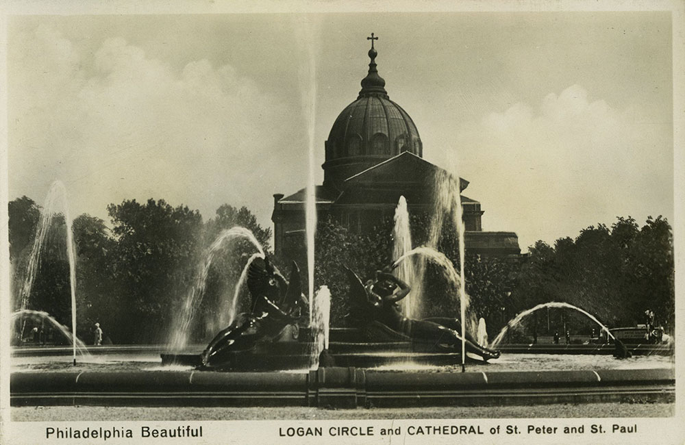 Logan Circle and St. Peter and St. Paul Cathedral - Postcard