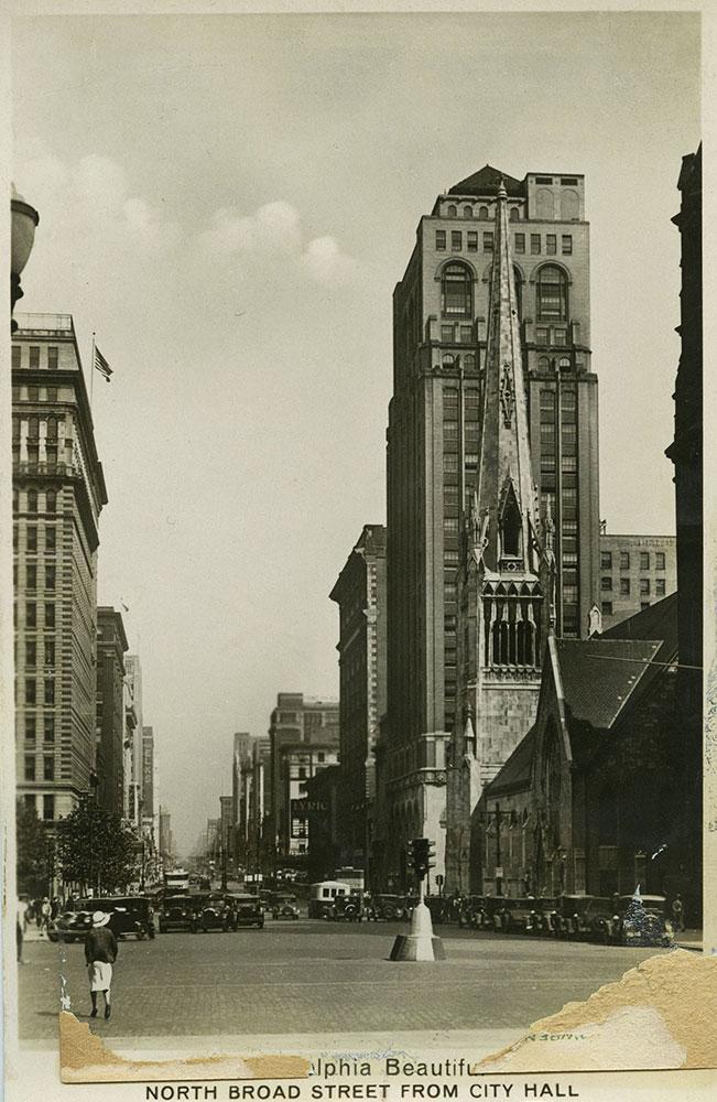 North Broad Street - Postcard