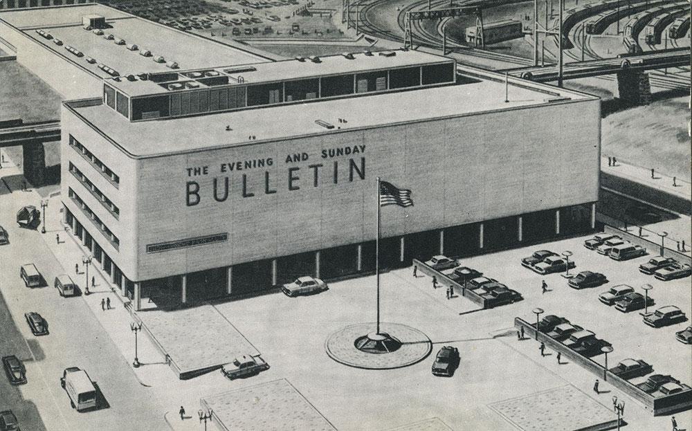 Evening and Sunday Bulletin Building - Postcard