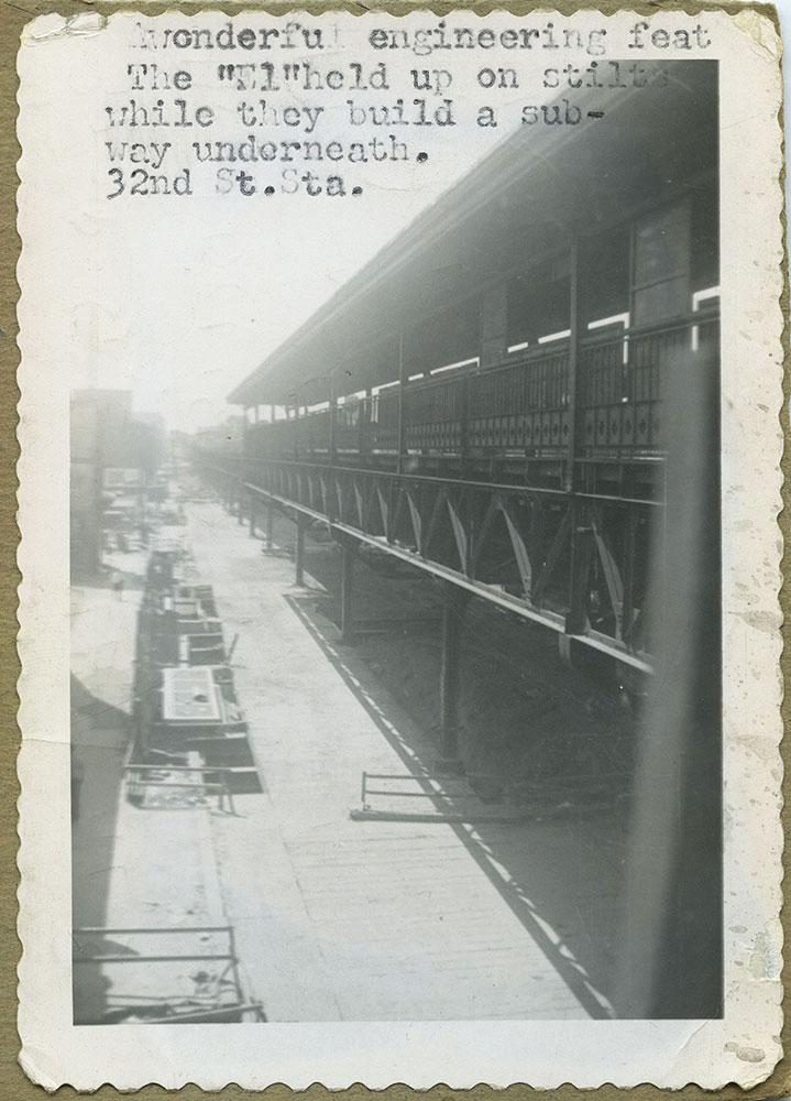 Elevated Trains - Postcard