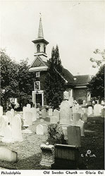 Old Swedes Church - Postcard