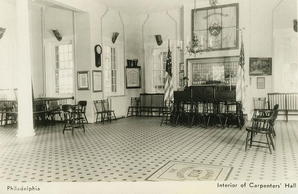 Interior of Carpenters' Hall (b) - Postcard