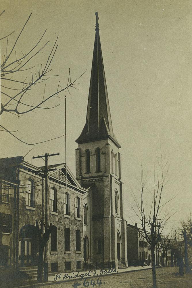 St. Bridget's Church - East Falls - Postcard