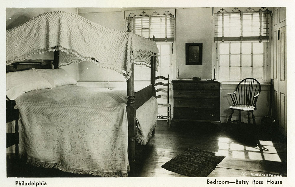 Betsy Ross House Bedroom - Postcard