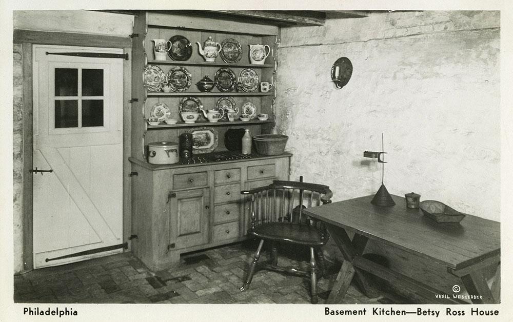 Betsy Ross House Basement Kitchen - Postcard (b)
