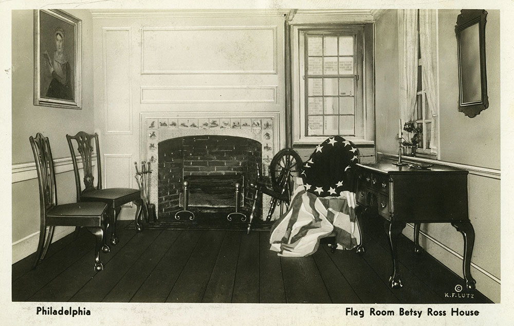 Betsy Ross House Flag Room - Postcard