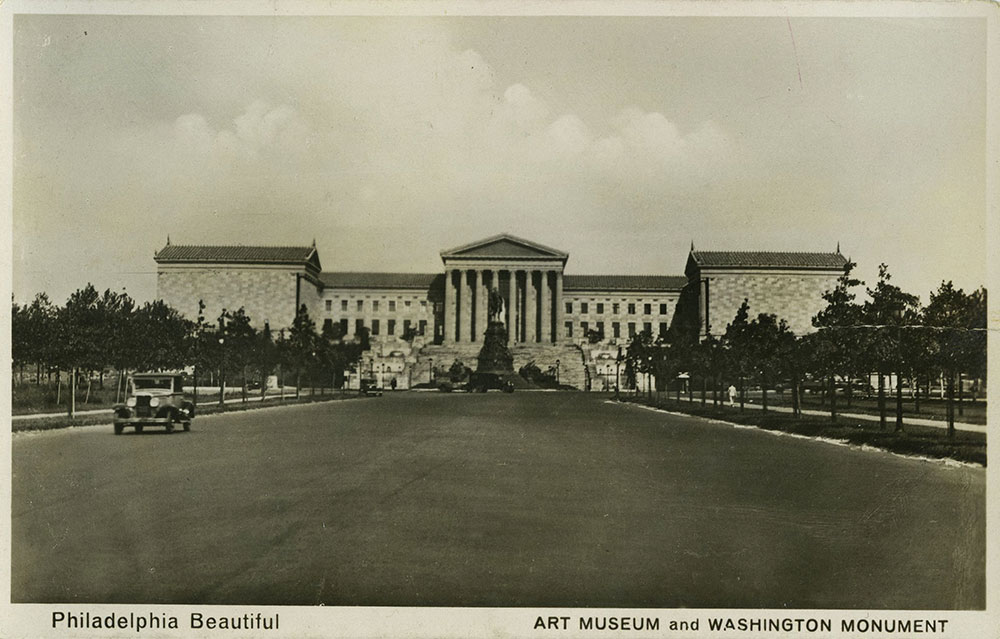 Art Museum and Washington Monument - Postcard