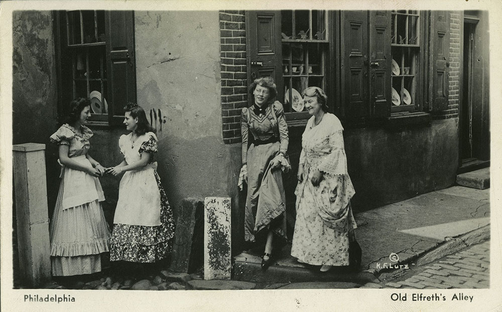 Old Elfreth's Alley - Postcard