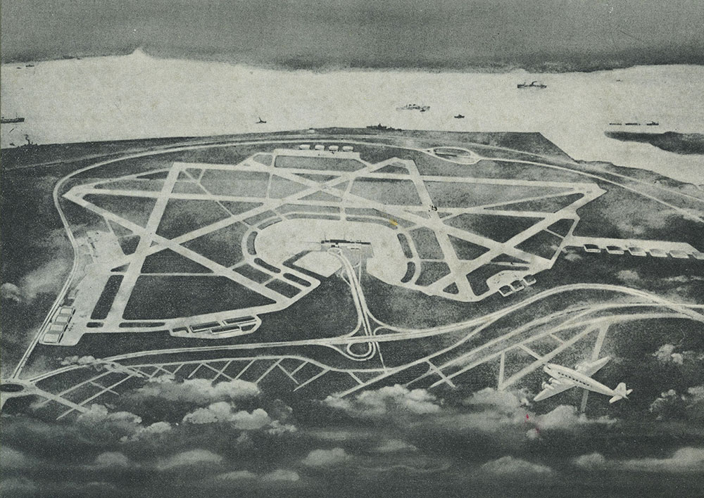 Aerial Drawing of Philadelphia International Airport