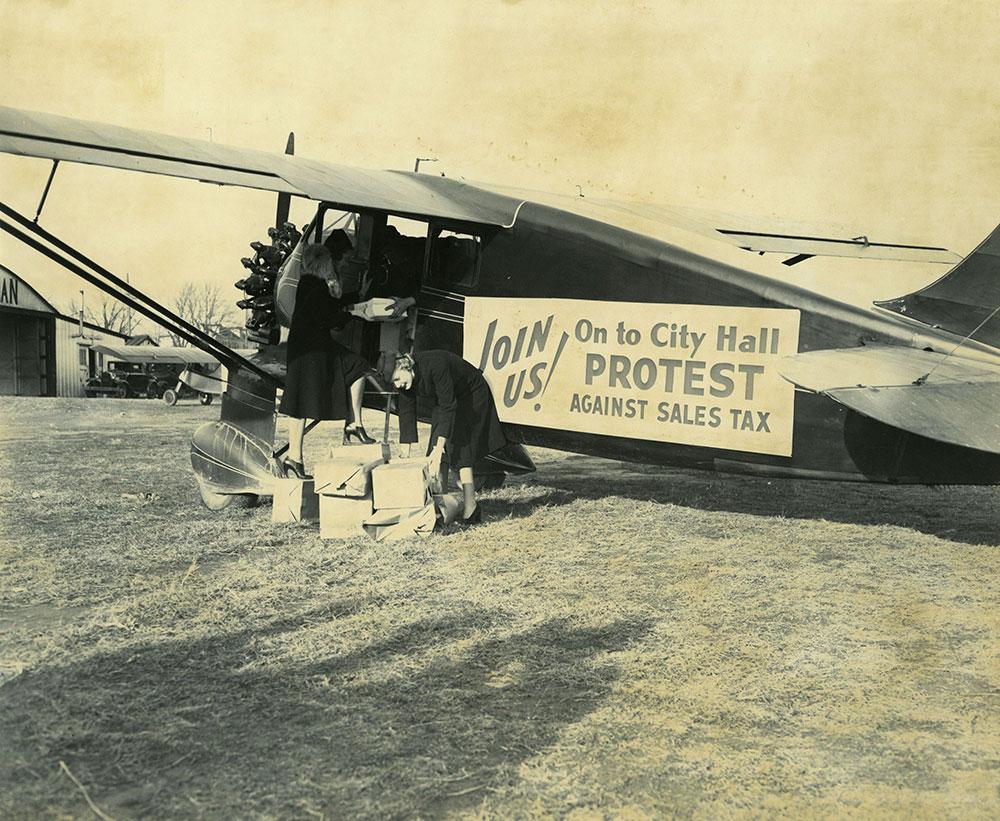 Sales Tax Protest Plane