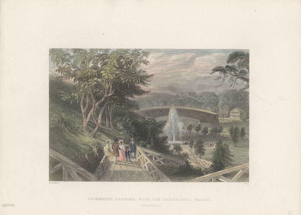 Fairmount Gardens, with the Schuylkill Bridge (Philadelphia)