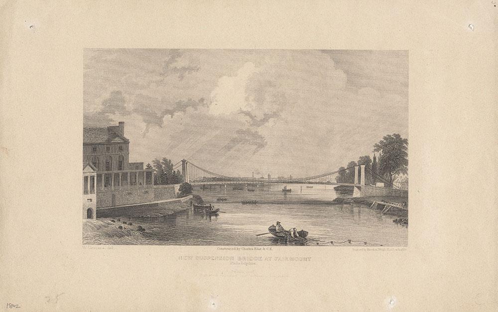 New Suspension Bridge at Fairmount Philadelphia