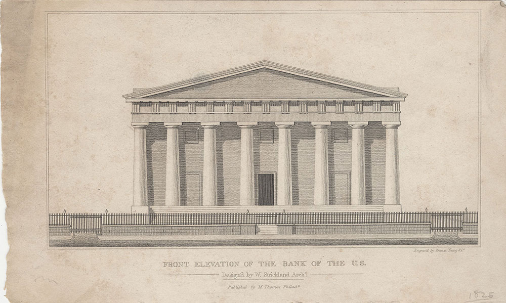 Front Elevation of the Bank of the U.S.