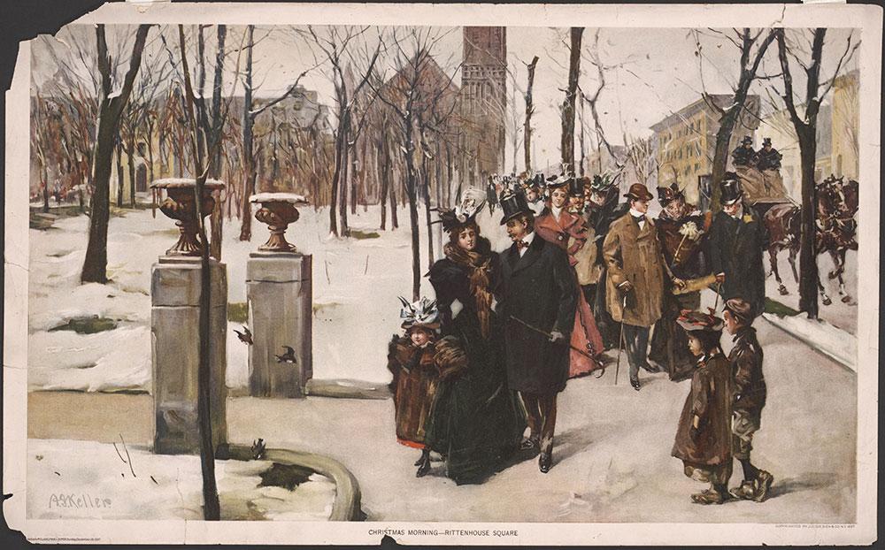Christmas morning - Rittenhouse Square