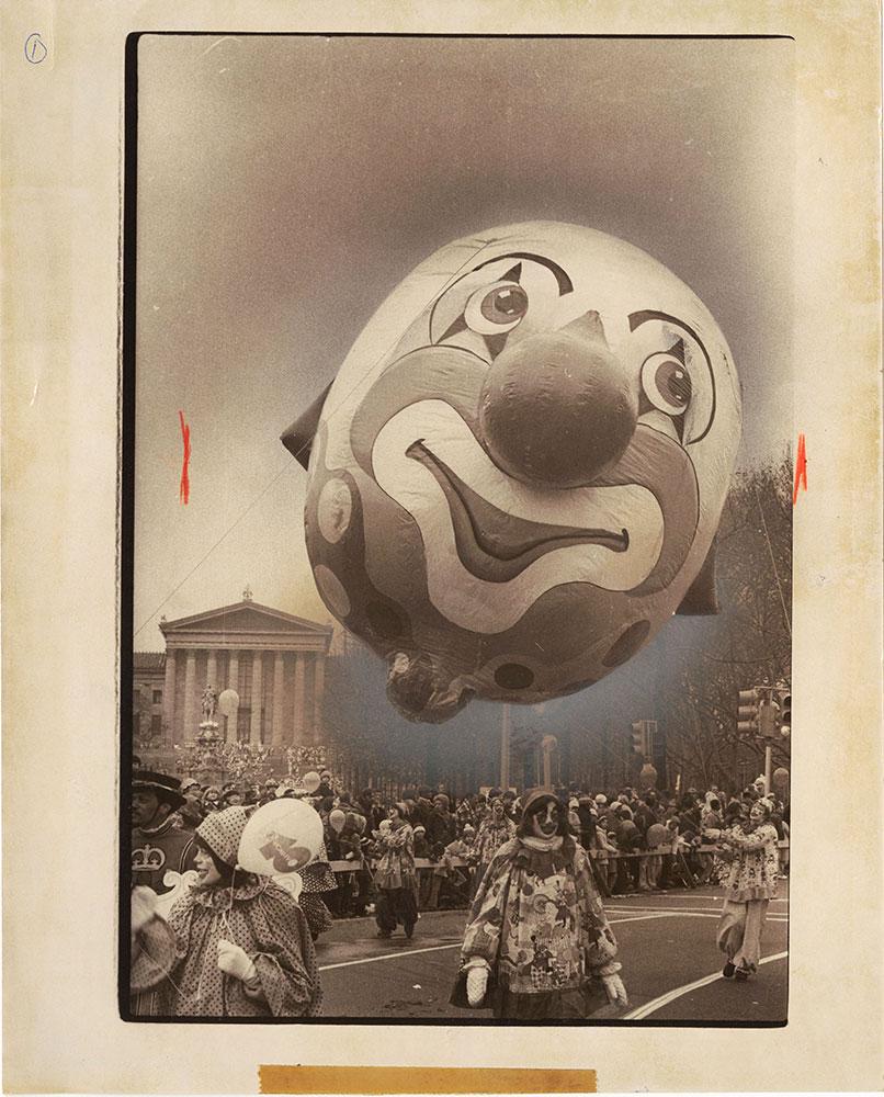 Clown Balloon at Thanksgiving Day Parade