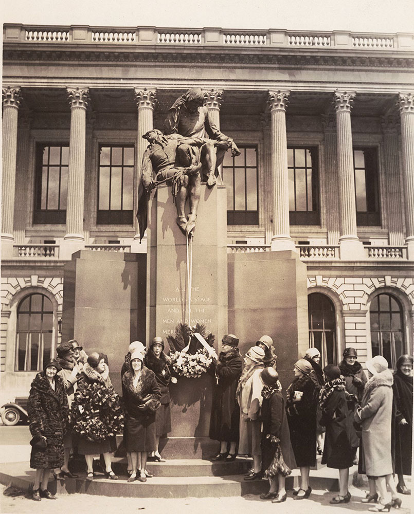 Shakespeare Memorial, Logan Square - 1930