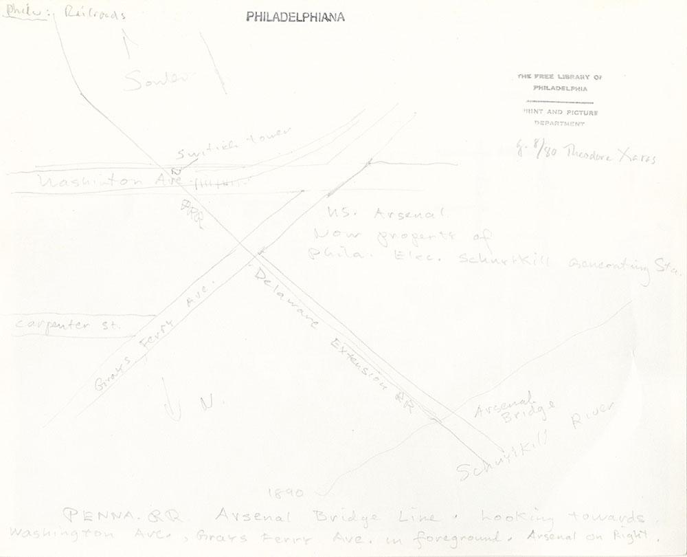 Pennsylvania Railroad Arsenal Bridge Line verso