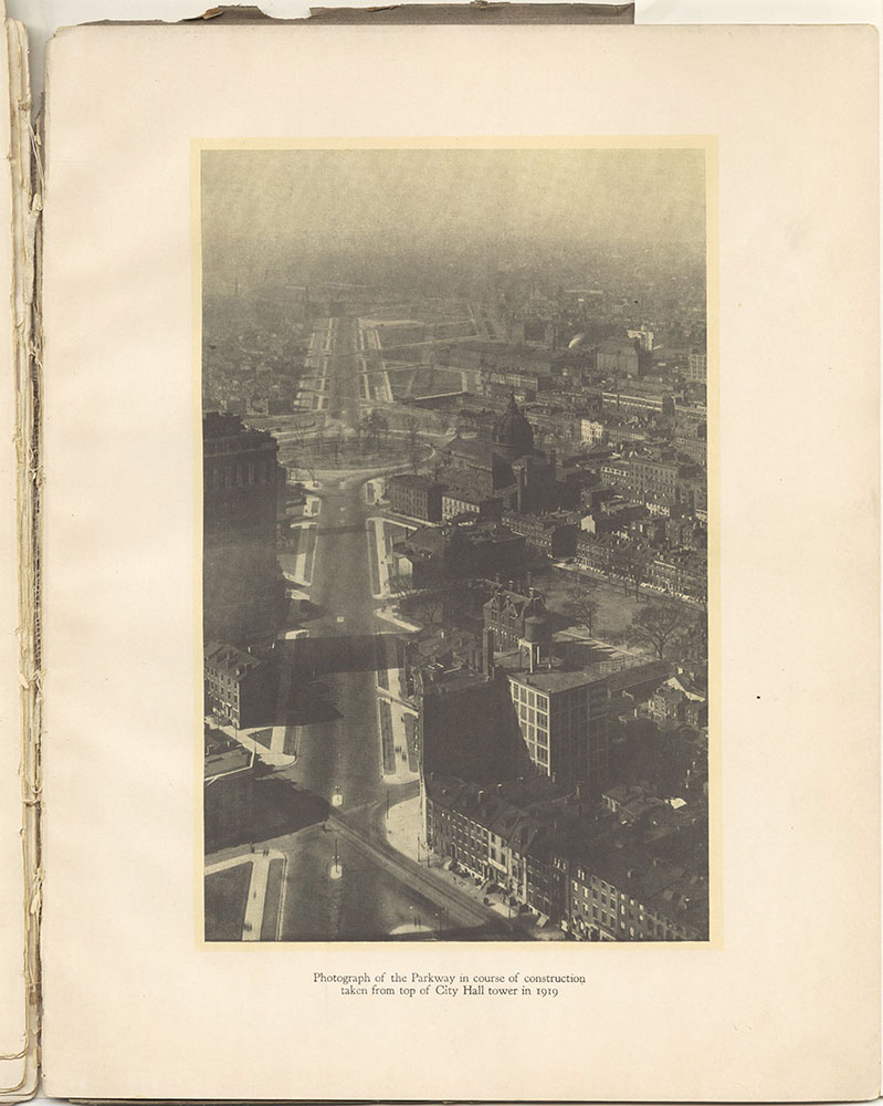 Photograph of the Parkway in course of construction 1919
