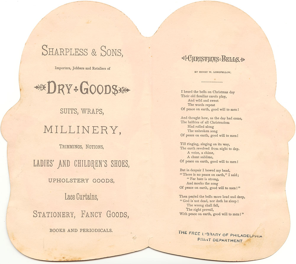 Sharpless & Sons trade card (verso of pdcp01069)