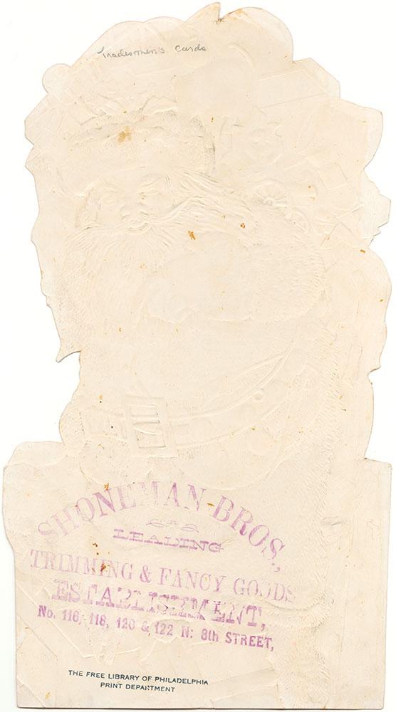 Shoneman Bro's trade card (verso of pdcp01071)