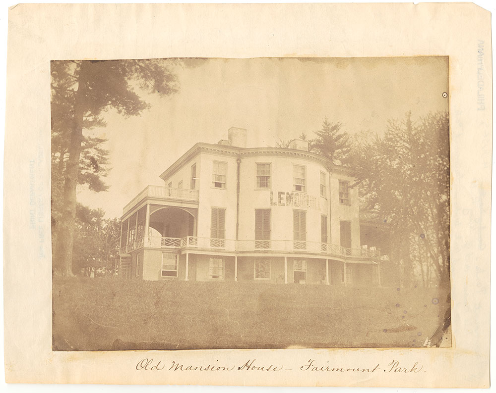 Old Mansion House -- Fairmount Park