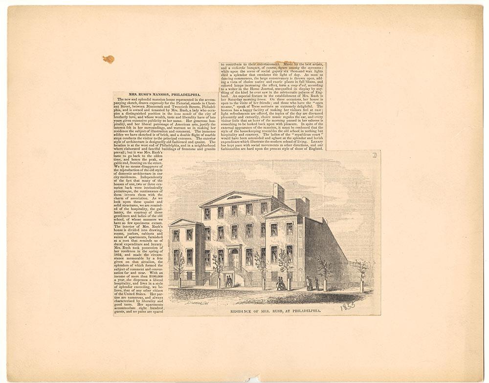 Residence of Mrs. Rush, at Philadelphia