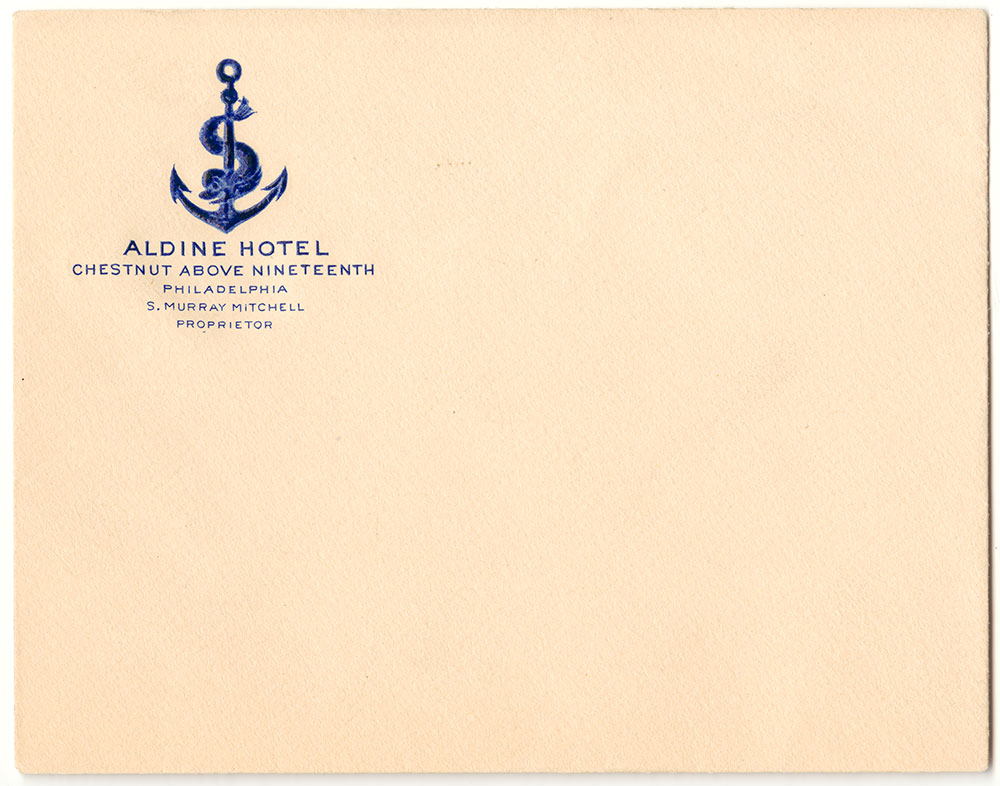 Aldine Hotel Envelope
