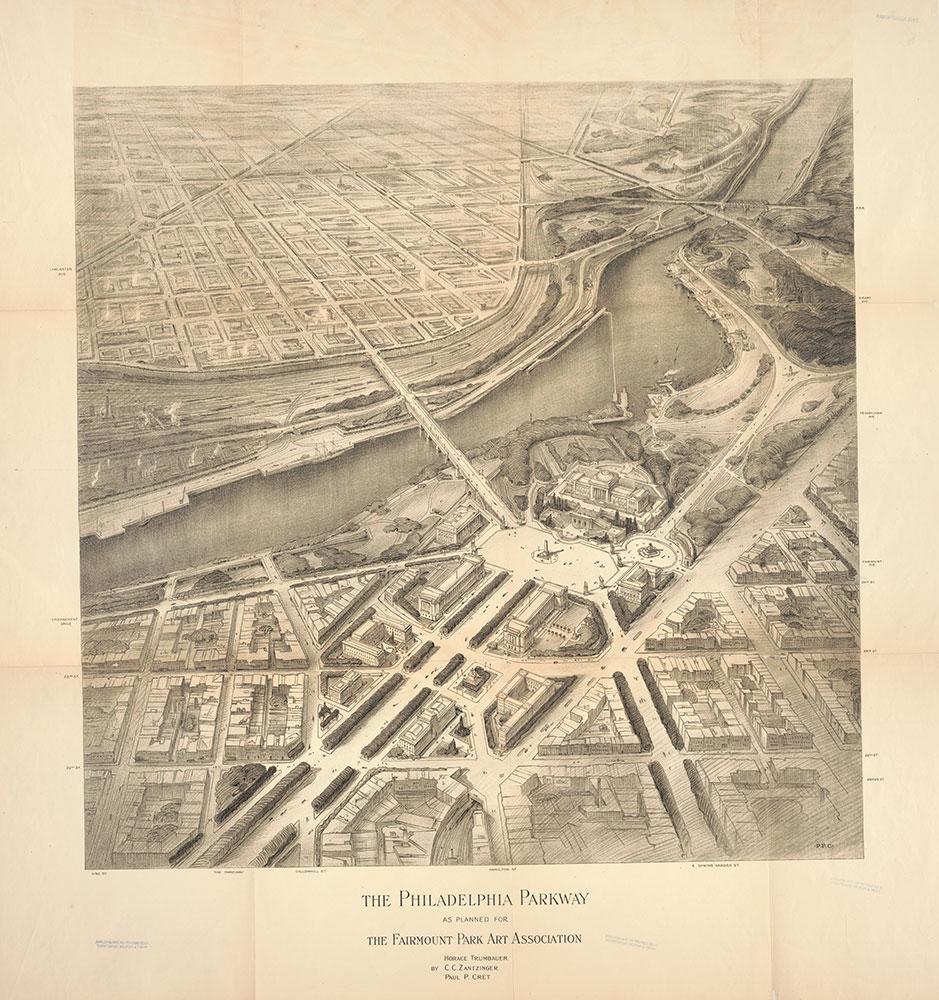 The Philadelphia Parkway as planned for the Fairmount Park Art Association