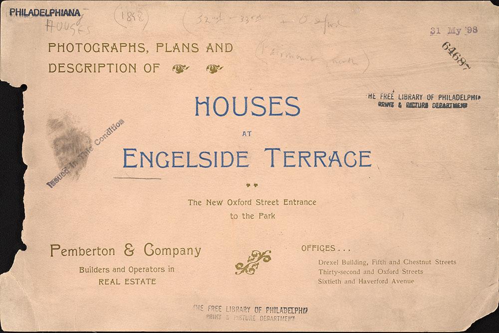 Photographs, plans and description of houses at Engelside Terrace