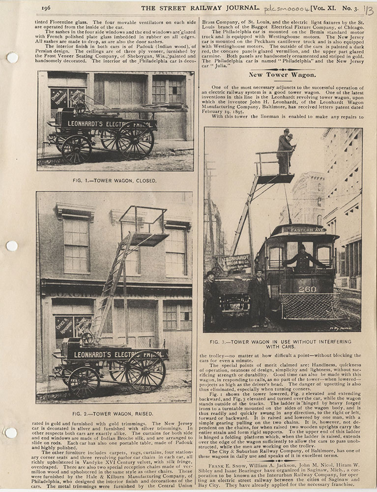 Leonhardt revolving tower wagon