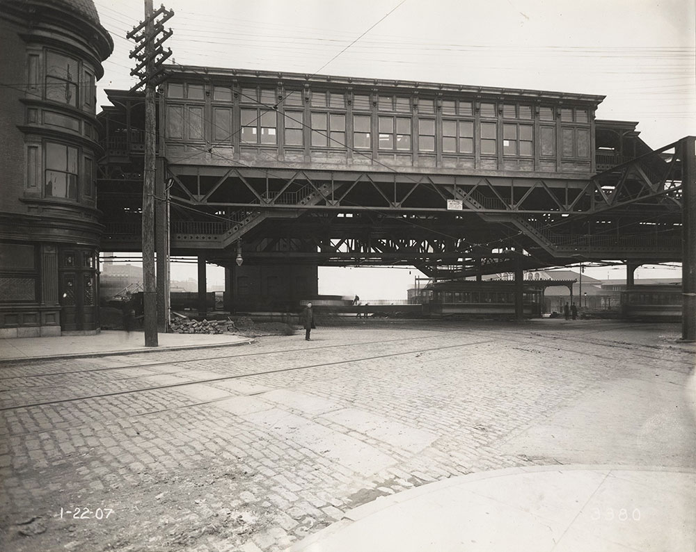 Elevated tracks at 32nd & Market Streets