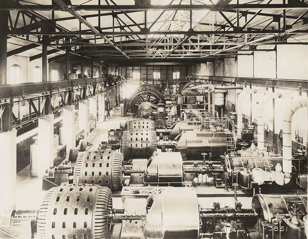 Interior of engine room or factory