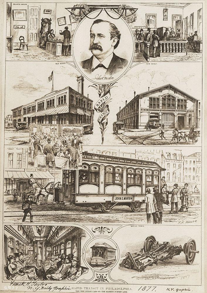 Rapid transit in Philadelphia, the new steam cars on the Market Street line