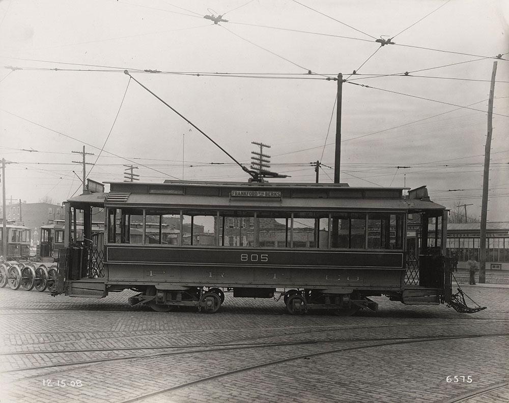 Trolley no. 805 at Frankford Depot