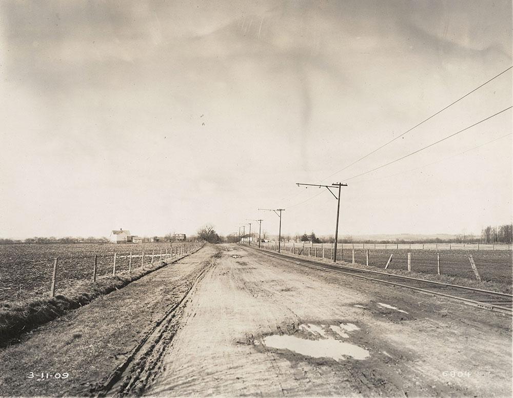 Trolley tracks, rural scene