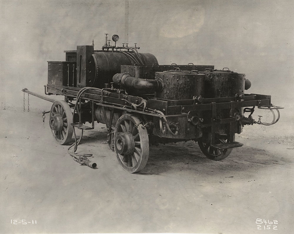 Horse drawn fire truck