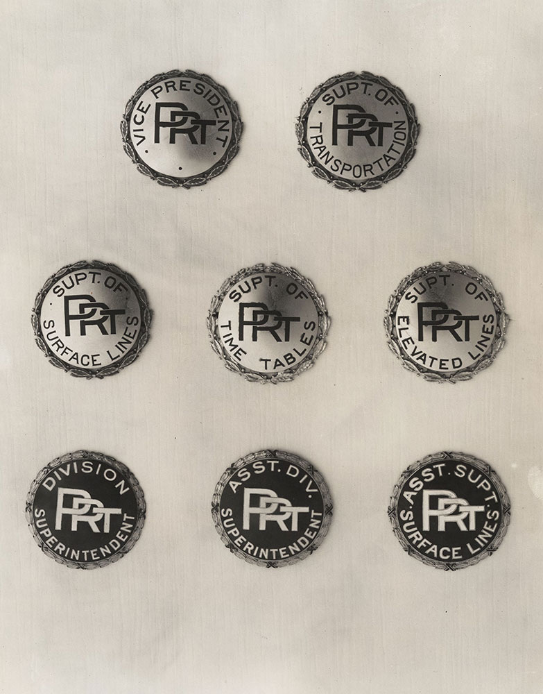 Philadelphia Rapid Transit badges