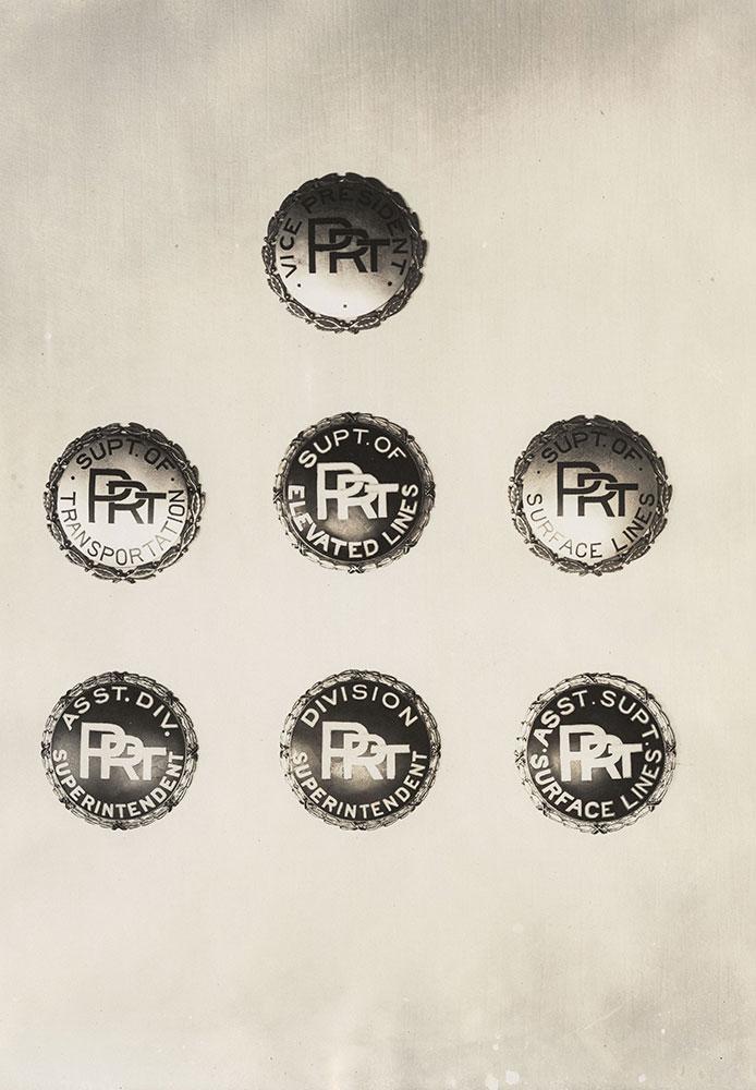 Philadelphia Rapid Transit badges