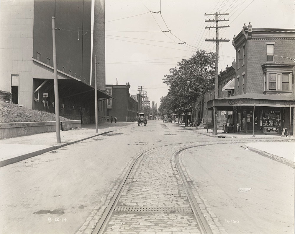 Trolley tracks in Clearfield