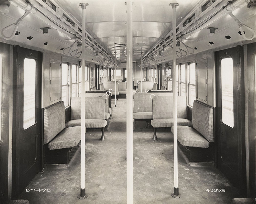 Frankford elevated car interior view