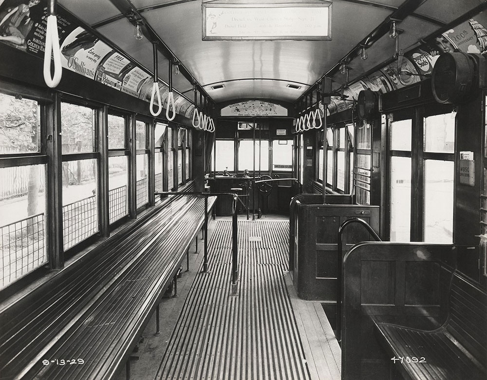 Trolley interior view