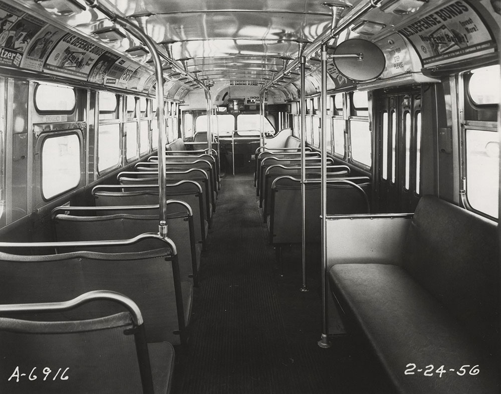 Bus interior view