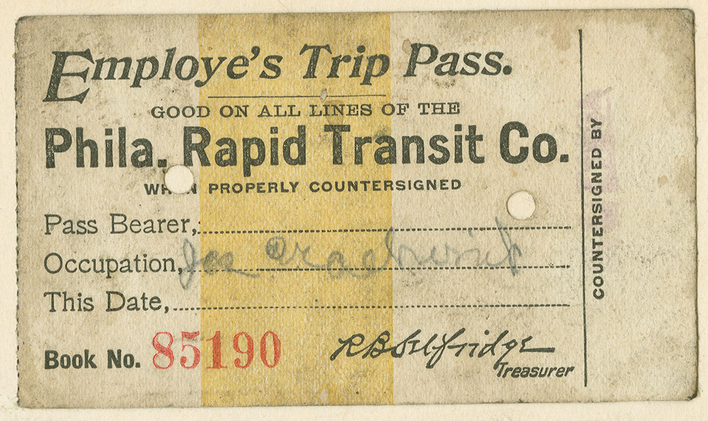 Employee's Trip Pass.