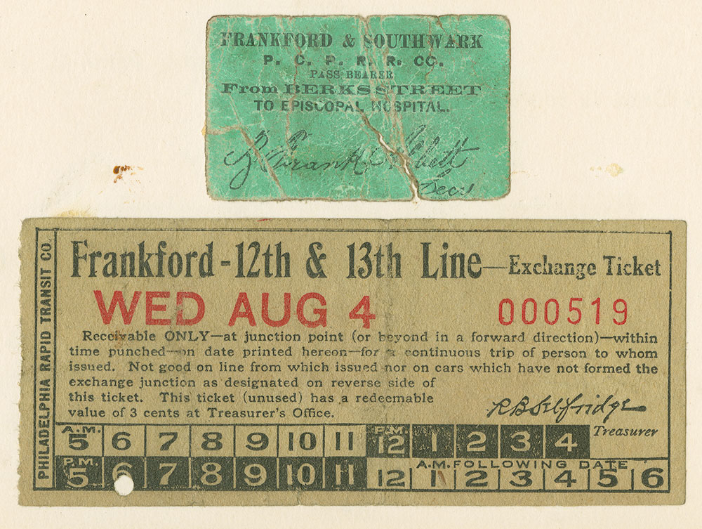 Frankford & Southwark, Frankford-12th & 13th line tickets
